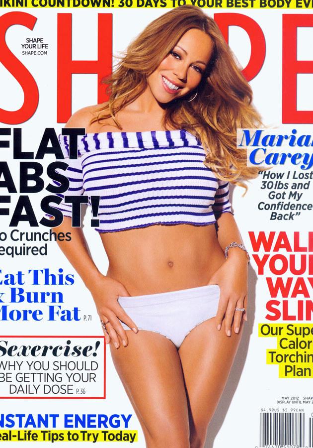 "Mariah Carey na okładce magazynu ""Shape"". /Splashnews"