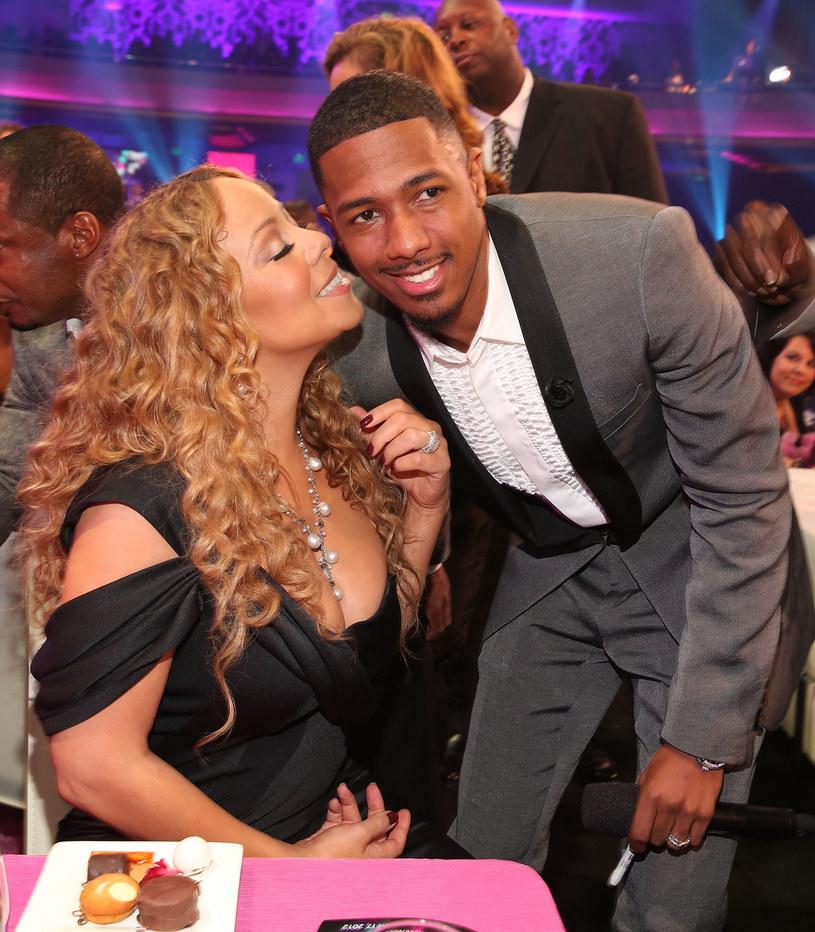Mariah Carey z byłym mężem, Nickiem Cannonem /Christopher Polk /Getty Images