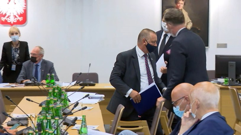 Marian Banaś opuścił salę obrad /INTERIA.PL