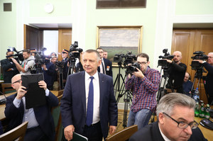 Marian Banaś pojawił się w Sejmie. Wygłosił znamienne oświadczenie