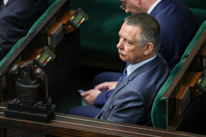 Marian Banaś w Sejmie /Andrzej Iwańczuk /Reporter