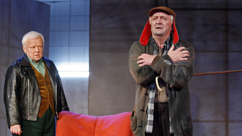 Marian Opania i Marian Kociniak na deskach teatru Ateneum /Jerzy Dudek /Agencja FORUM