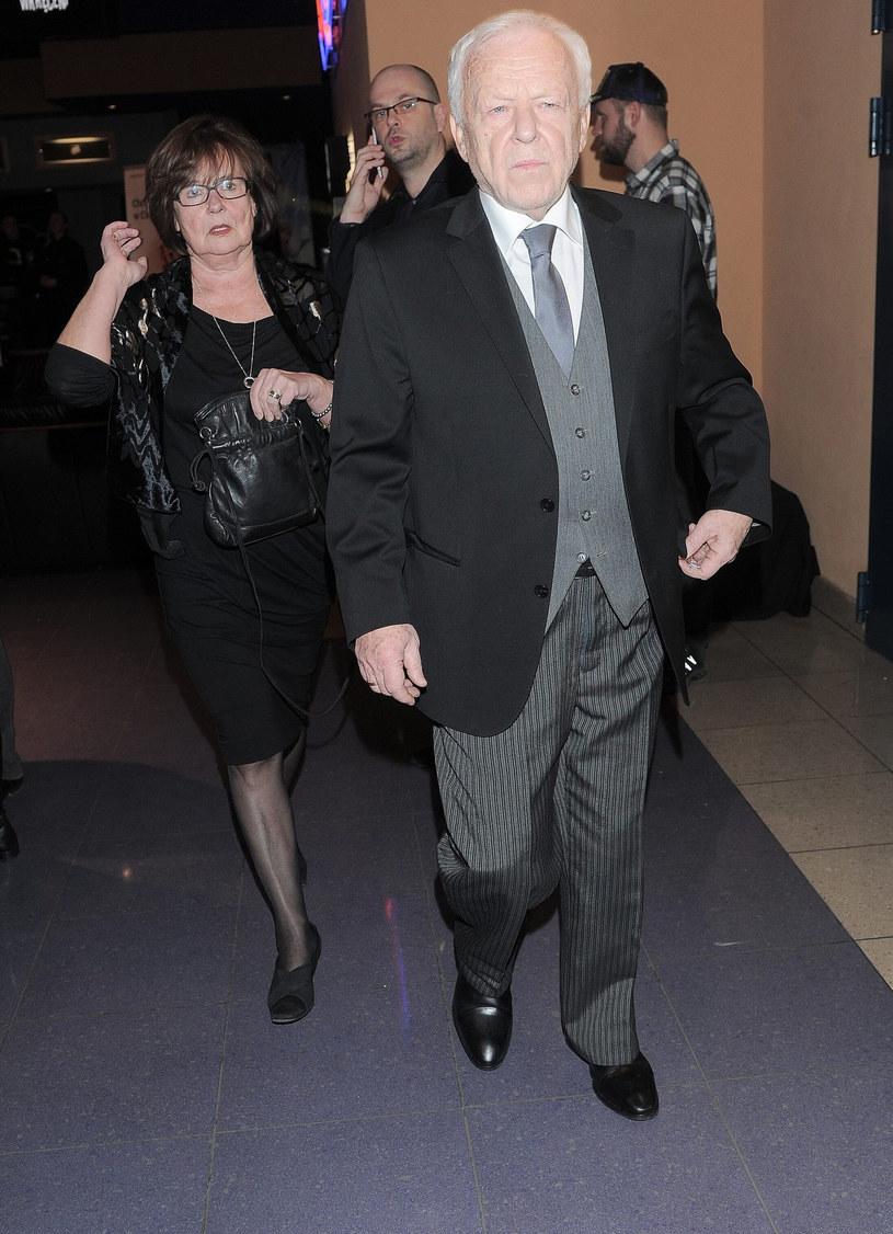 Marian Opania z żoną /Kątny Karol /East News