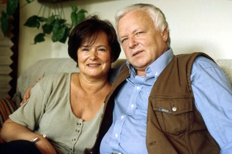 Marian Opania z żoną /Andrzej Hrechorowicz /Agencja FORUM