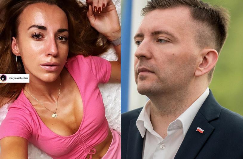Marianna Schreiber i Łukasz Schreiber, fot. Instagram/marysiaschreiber /Łukasz Piecyk /Reporter