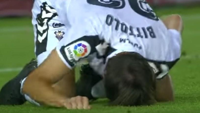 Mariano Bittolo odniósł bolesny uraz; źródło: youtube /