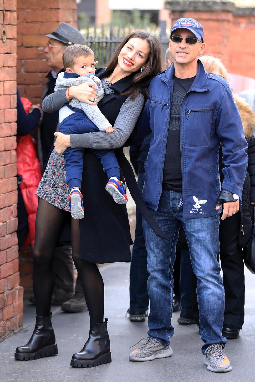 Marica Pellegrinelli i Eros Ramazzotti z synem /Robino Salvatore /Getty Images