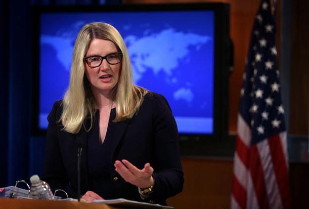 Marie Harf nie skomentowała kwestii przeprosin Polski fot. Alex Wong /AFP