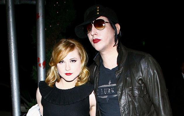 Marilyn Manson i Evan Rachel Wood, fot. Scott Wintrow  /Getty Images/Flash Press Media
