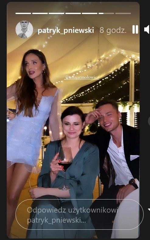 Marina Łuczenko-Szczęsna, Joanna Jarmołowicz, Patryk Pniewski /Instagram