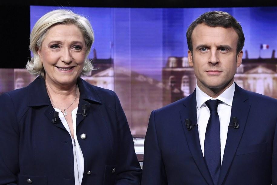 Marine Le Pen i Emmanuel Macron /ERIC FEFERBERG / POOL /PAP