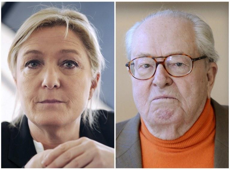 Marine Le Pen i Jean-Marie Le Pen /AFP