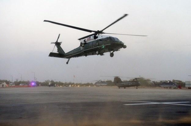 Marine One z Barackiem Obamą na pokładzie /AFP