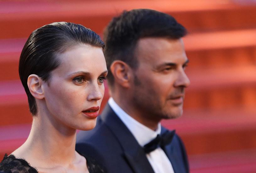"""Marine Vacth i Francois Ozon na premierze """"Podwójnego kochanka"""" w Cannes /AFP"""