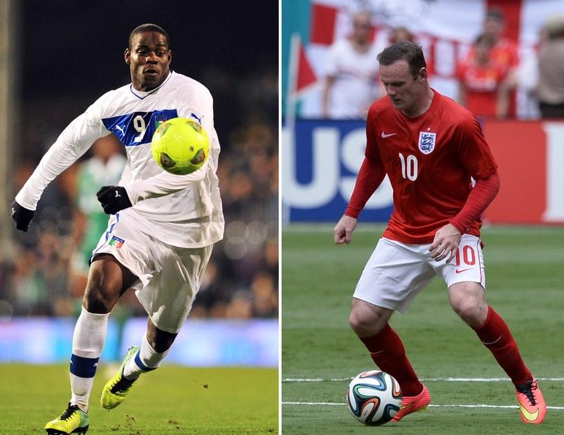 Mario Balotelli kontra Wayne Rooney. Kto będzie lepszy? /AFP