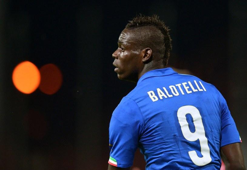 Mario Balotelli w koszulce reprezentacji Włoch /AFP
