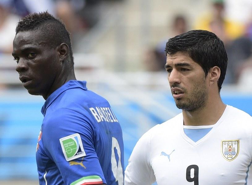 Mario Balotelli (z lewej) nie zastąpi Luisa Suareza (z prawej) w Liverpoolu /AFP