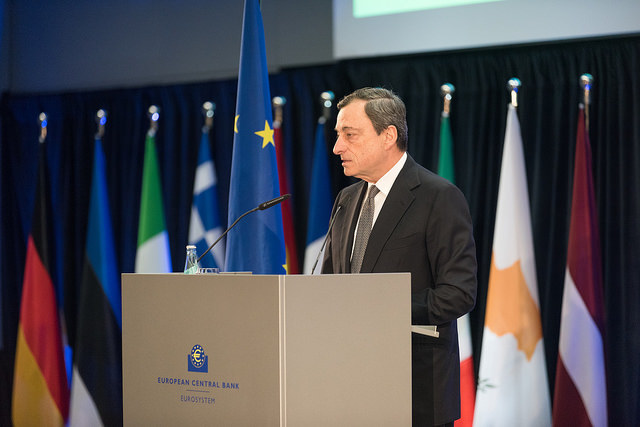 Mario Draghi, prezes Europejskiego Banku Centralnego / inf. prasowa /&nbsp