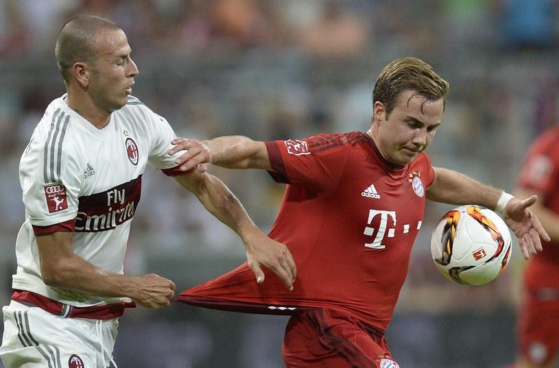 Mario Goetze (z prawej) i Luca Antonelli /AFP