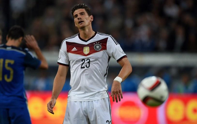 Mario Gomez, napastnik reprezentacji Niemiec /AFP