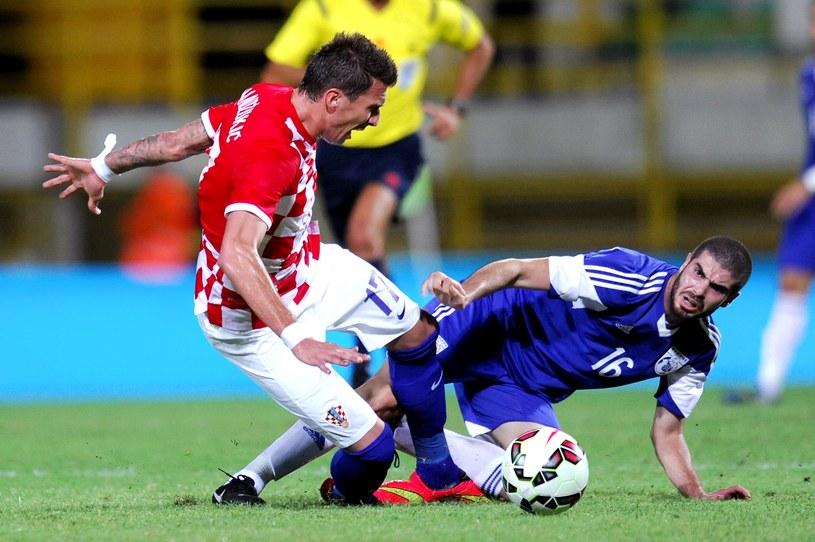 Mario Mandżukić zdobył dwie bramki dla Chorwacji /AFP