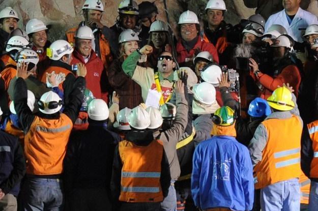 Mario Sepulveda uratowany po 69 dniach pod ziemią /AFP