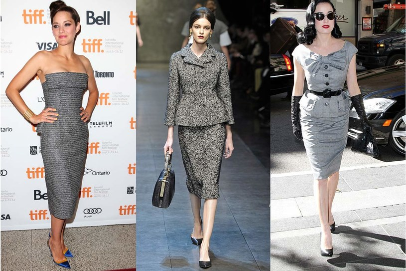 Marion Cotillard, pokaz Dolce&Gabbana, Dita Von Teese /East News