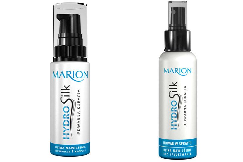 Marion: HydroSilk Jedwab w spray'u i Jedwabna kuracja /materiały prasowe