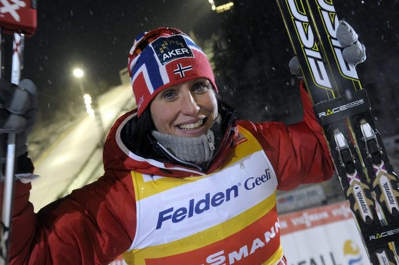 Marit Bjoergen, norweska gwiazda biegów narciarskich /AFP