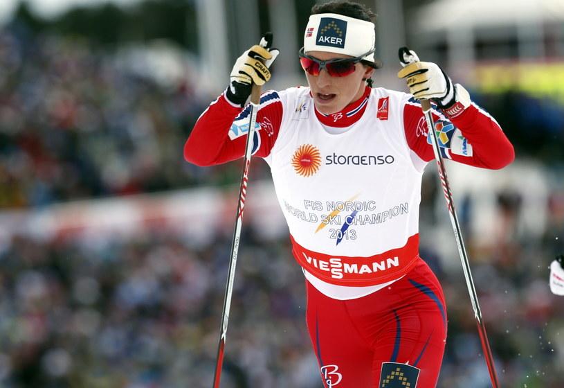 Marit Bjoergen podczas sobotniej rywalizacji w biegu łączonym /AFP