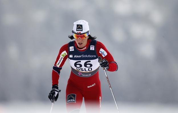 Marit Bjoergen poprowadziła Norweżki do zwycięstwa w sztafecie 4x5 km /AFP