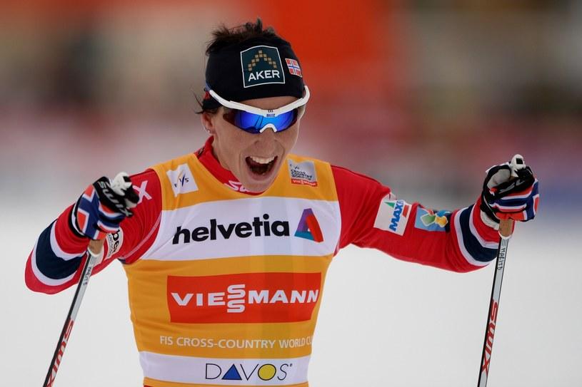 Marit Bjoergen triumfowała w sobotę w Davos /AFP