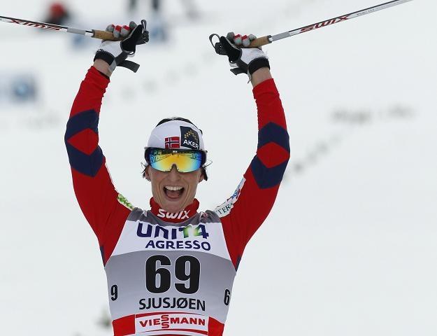 Marit Bjoergen wygrała pierwsze w tym sezonie zawody Pucharu Świata /AFP