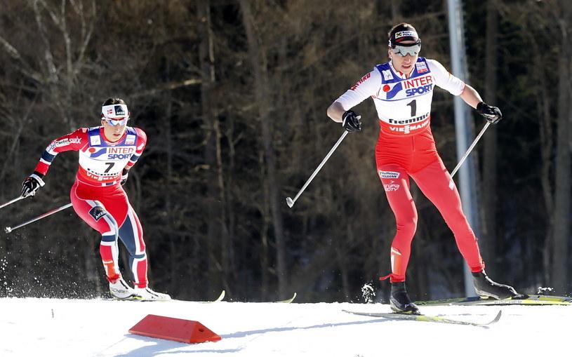 Marit Bjoergen (z lewej) i Justyna Kowalczyk /Grzegorz Momot /PAP