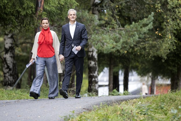 Marit Slagsvold i Jonas Gahr Store są małżeństwem od 1988 roku i mają trzech synów /NTB SCANPIX /PAP/EPA