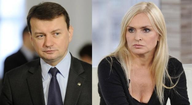 Mariusz Błaszczak i Monika Olejnik/fot. P. Bławicki /East News