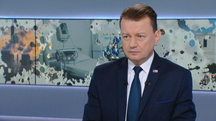"Mariusz Błaszczak w ""Graffiti"" /Polsat News"