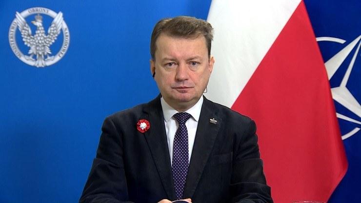 "Mariusz Błaszczak w programie ""Graffiti"" /Polsat News"