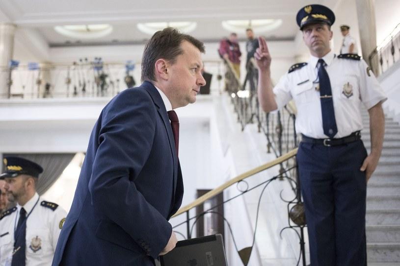 Mariusz Błaszczak w Sejmie /Maciej Luczniewski /Reporter
