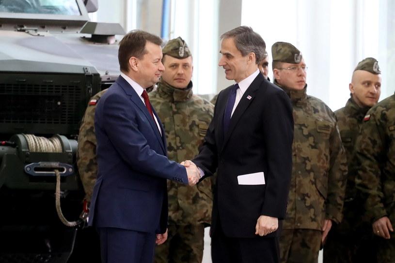Mariusz Błaszczak z ambasadorem USA /Paweł Supernak /PAP