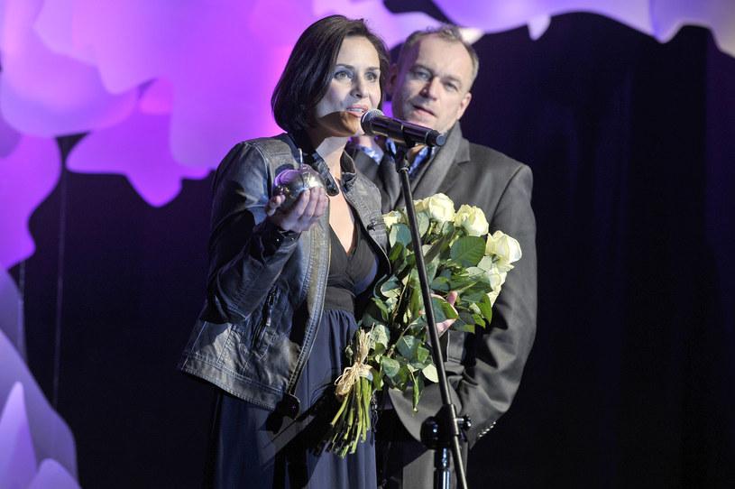 Mariusz Bonaszewski z żoną, Dorotą Landowską /Kurnikowski /AKPA
