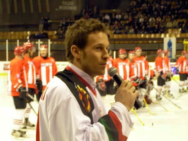 Mariusz Czerkawski w koszulce GKS Tychy! /INTERIA.PL