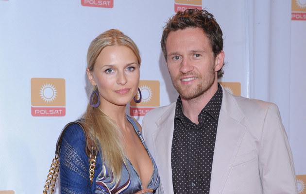Mariusz Czerkawski z żoną, fot. Andrzej Szilagyi  /MWMedia
