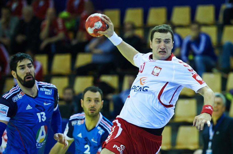 Mariusz Jurkiewicz w meczu z Francją /Fot. Adam Warżawa /PAP