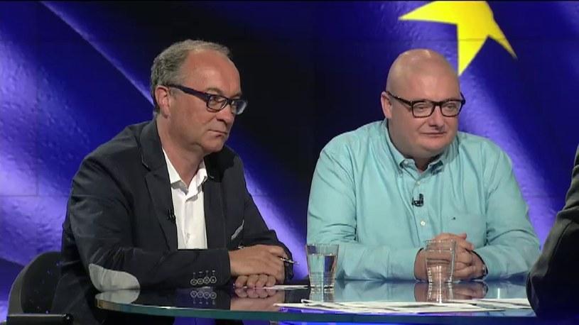 Mariusz Kamiński i Włodzimierz Czarzasty /TVN24/x-news