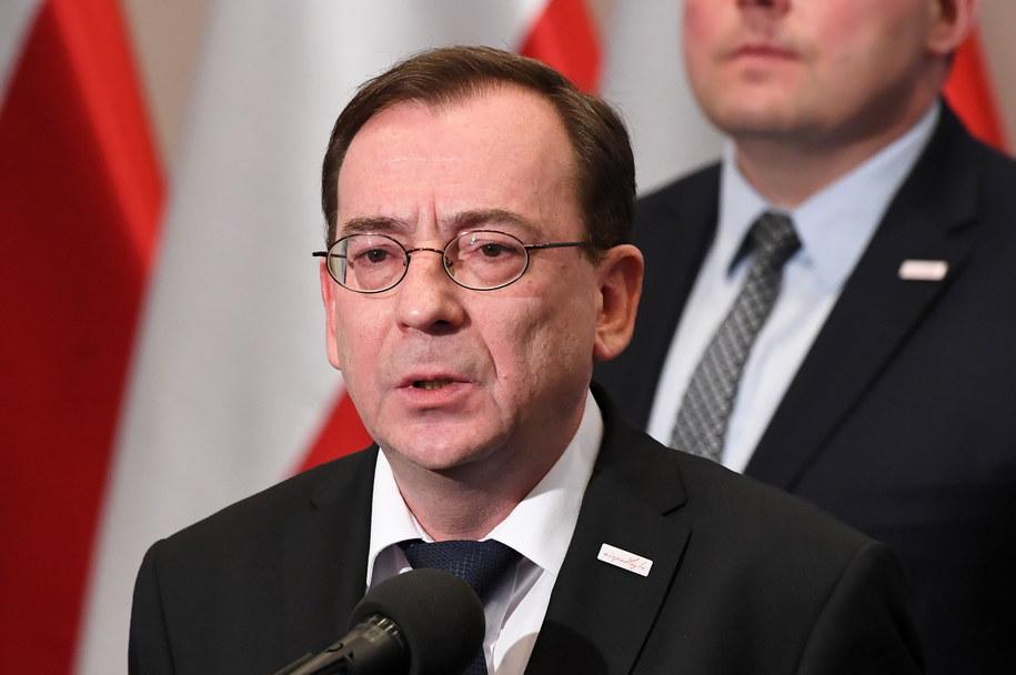 Mariusz Kamiński na konferencji prasowej /Radek Pietruszka /PAP