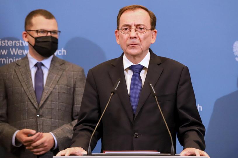 Mariusz Kamiński podczas piątkowej konferencji /Zofia Bichniewicz /PAP