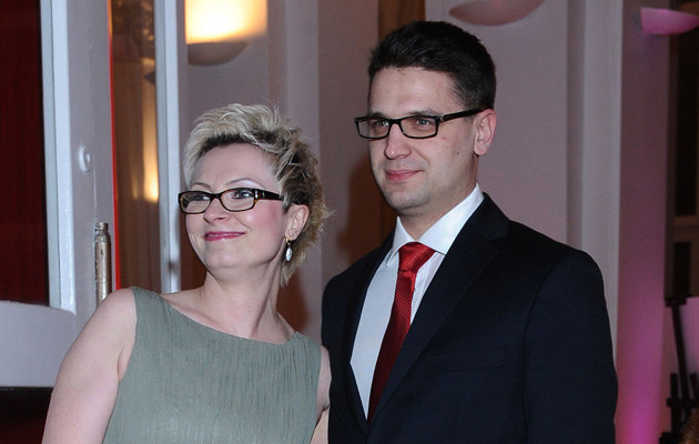 Mariusz Kamiński z byłą żoną Anną na Balu Dziennikarzy /Andras Szilagyi /MWMedia