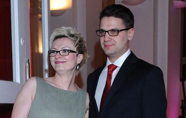 Mariusz Kamiński z żoną Anną /Andras Szilagyi /MWMedia
