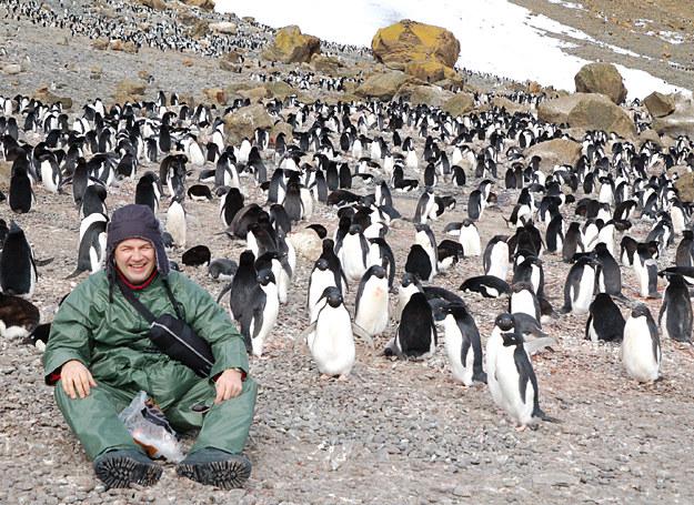 Mariusz Majewski na Antarktydzie /fot. Mariusz Majewski /INTERIA.PL